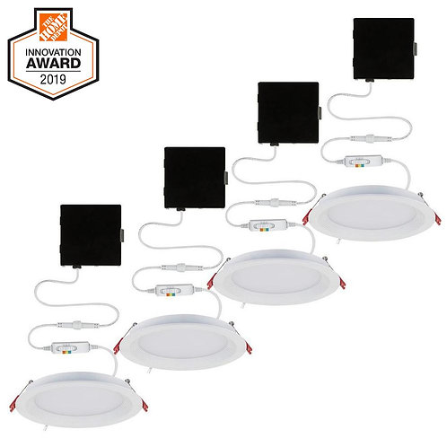 CE 6 in. Selectable New Construction and Remodel Canless Recessed Integrated LED