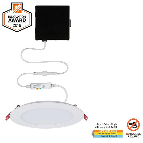CE Ultra Slim 6 in. New Construction and Remodel Color Selectable Canless LED Re