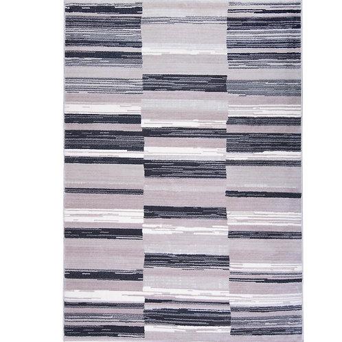 Bazaar City Stripes Gray 8 ft. x 10 ft. Indoor Area Rug