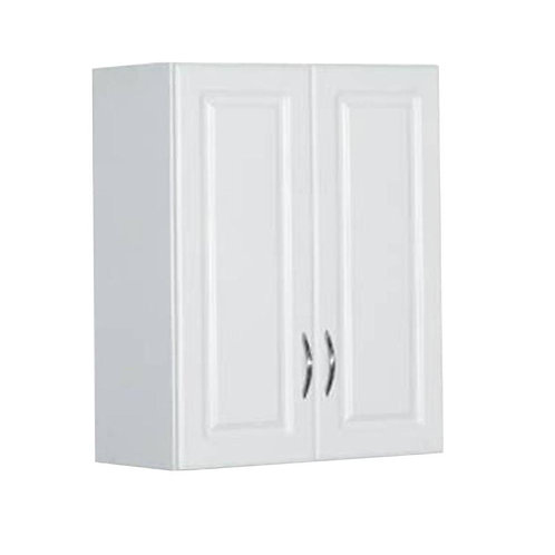 30 in. H x 24 in. W x 12 in. D White Raised Panel Wall Storage Cabinet
