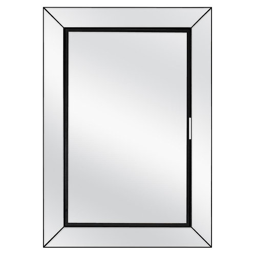 23-1/2 in. W x 33-1/2 in. H Fog Free Framed Recessed or Surface-Mount Mirror on