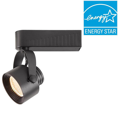 Hampton Bay Black Dimmable LED Gimbal Track Lighting Fixture