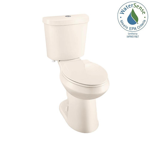 Glacier Bay 2-piece 1.1 GPF/1.6 GPF High Efficiency Dual Flush Elongated Toilet