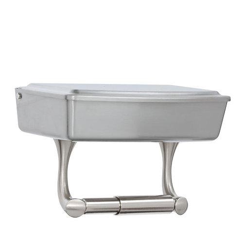 Delta Toilet Paper Holder with Storage in SpotShield Brushed Nickel
