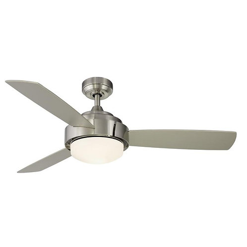 Fanimation Studio Collection Coop 52-in Brushed Nickel Indoor Downrod Ceiling Fa