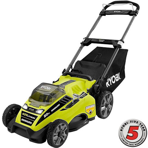 20 in. 40-Volt Brushless Lithium-Ion Cordless Battery Walk Behind Push Lawn Mowe
