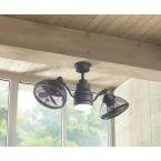HDC Pendersen 42 in. Integrated LED Indoor-Outdoor Espresso Bronze Ceiling Fan w
