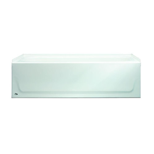 Aloha 60 in. Right Drain Raised Outlet Rectangular Alcove Soaking Bathtub in