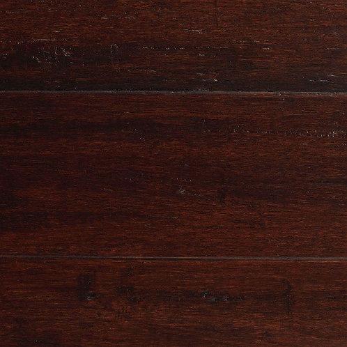 HDC Hand Scraped Strand Woven Dark Mahogany 3/8 in. T x 5-1/8 in. W x 36 in. L E