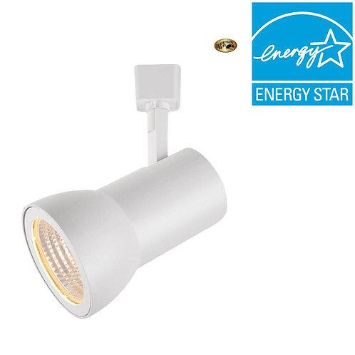Hampton Bay Hampton Bay White Dimmable LED Large Cylinder Track Light Fixture