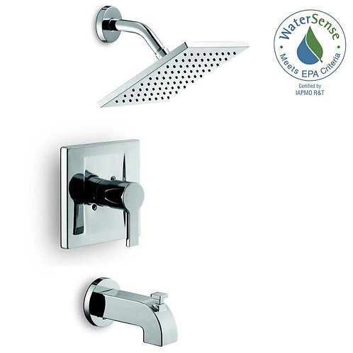 Glacier Bay Modern Single-Handle 1-Spray Tub and Shower Faucet in Chrome