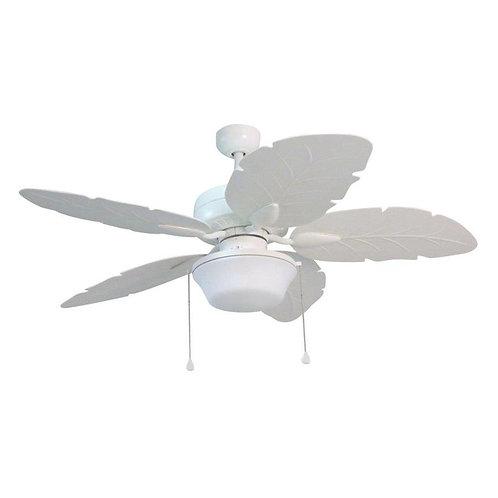 Harbor Breeze Waveport 52-in White LED Indoor/Outdoor Ceiling Fan with Light Kit
