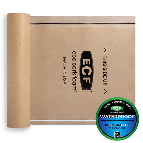 Eco Cork Foam 75 sq. ft. 3 ft. x 25 ft. x 3.2 mm Waterproof Premium Plus 10-in-1