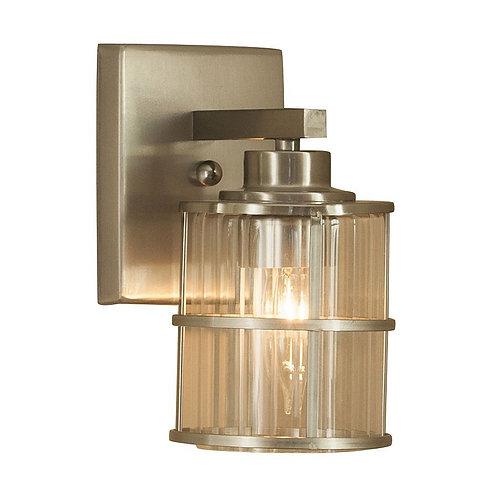 allen + roth Kenross 1-Light 4.5-in Satin Nickel Cage  Light