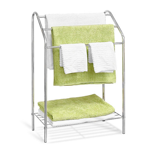 Furinno Wayar 22.83 in. W x 3.27 in. H White Tier Towel Stand