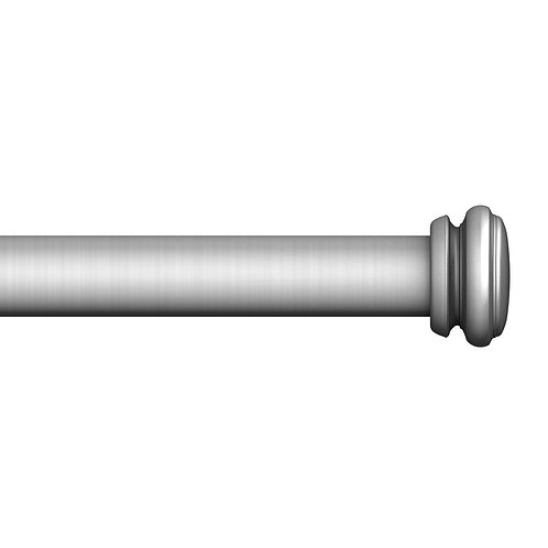 HDC - 32 in. to 72 in. Telescoping Single Curtain Rod Kit in Brushed Nickel