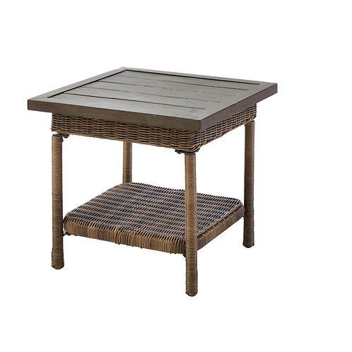 Beacon Park Steel Wicker Outdoor Accent Table