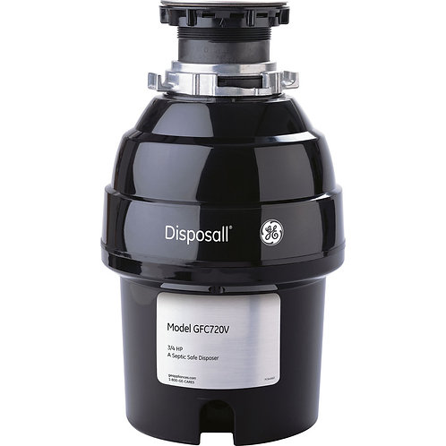 GE 3/4-HP Continuous Feed Noise Insulation Garbage Disposal