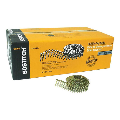 Bostitch 15-Gauge 15-Degree Pneumatic Roofing Nails (7200-Count)