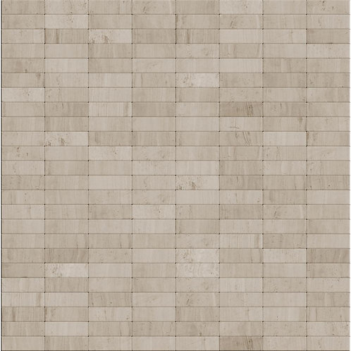Hare 11.42 in. x 11.60 in. x 5 mm Self Adhesive Wall Tile Mosaic in Off White/Gr