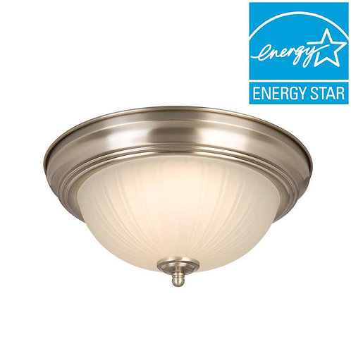 Commercial Electric 11 in. 100-Watt Equivalent Brushed Nickel Integrated LED Flu