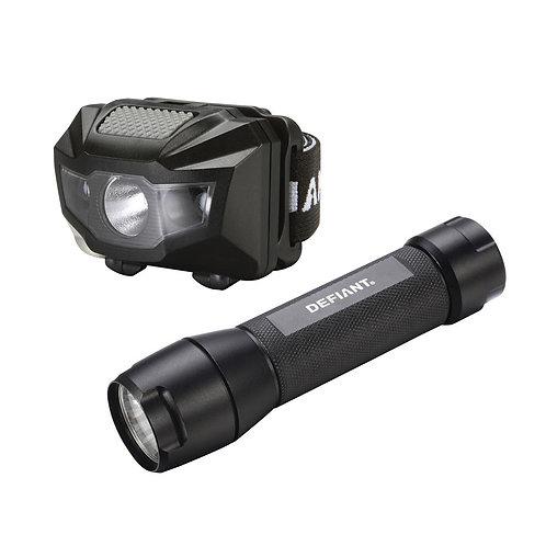 150-Lumen LED Flashlight / Headlight Combo (2-Pack)