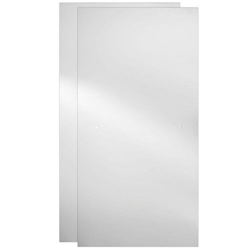 60 in. Sliding Shower Door Glass Panels in Clear (1-Pair)