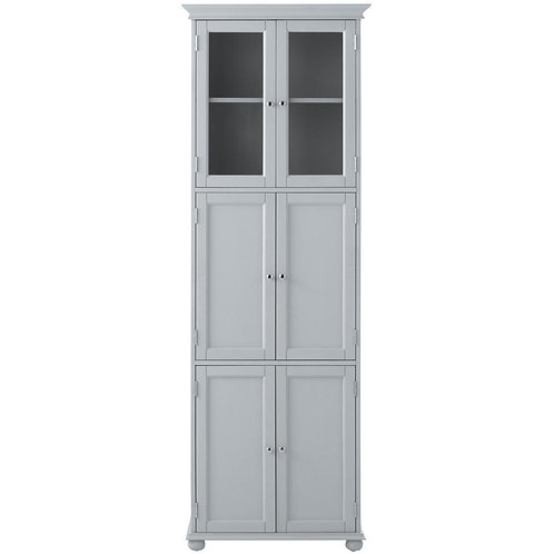 Hampton Harbor 25 in. W x 14 in. D x 72 in. H Linen Storage Tower Cabinet with 6