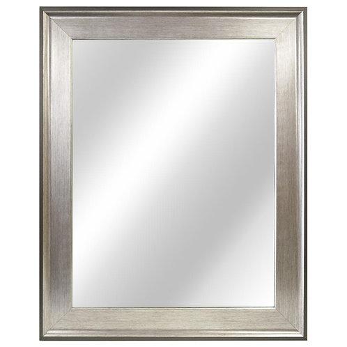 23 in. W x 29 in. L Framed Fog Free Wall Mirror in Two-Tone Silver