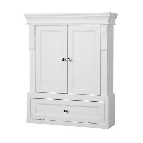 Foremost Naples 26-1/2 in. W x 32-3/4 in. H x 8 in. D Bathroom Storage Wall Cabi