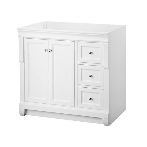 Foremost Naples 36 in. W x 21-5/8 in. D x 34 in. H Vanity Cabinet Only in White