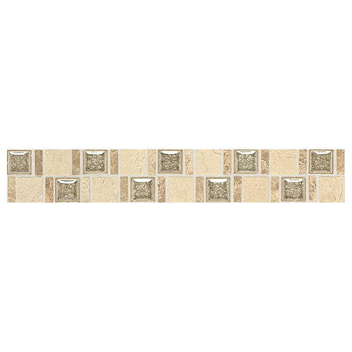 Daltile - Stone Decorative Accents Crackle Fantasy 1-7/8 in. x 12 in. Marble and