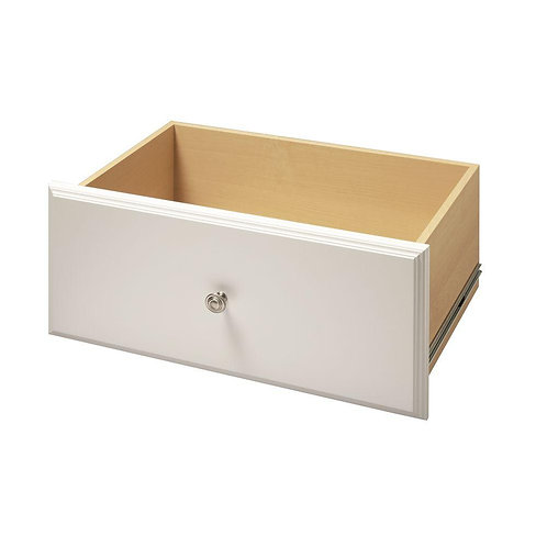 24 in. x 12 in. Classic White Deluxe Wood Drawer Kit