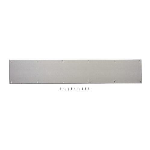 Gatehouse 8-in W x 34-in H Satin Nickel Kick Plate