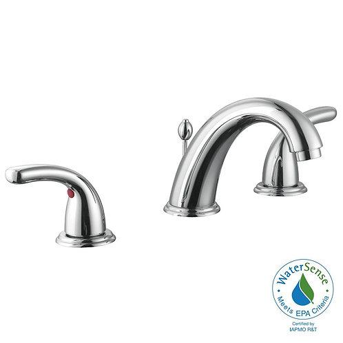 Glacier Bay Builders 8 in. Widespread 2-Handle High-Arc Bathroom Faucet in Chrom