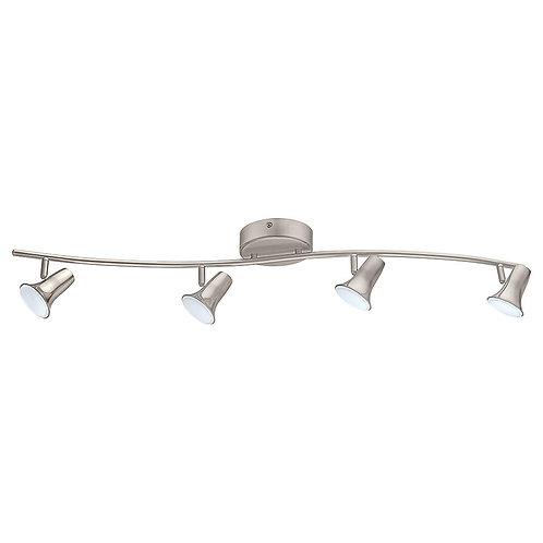EGLO Jumilla LED 4-Light Matte Nickel Track Lighting Kit