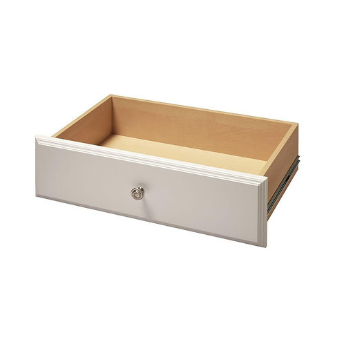 24 in. x  in. Classic White Deluxe Wood Drawer Kit