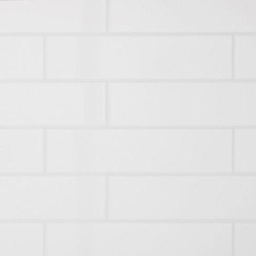 Daltile Restore Bright White 3 in. x 12 in. Ceramic Subway Wall Tile