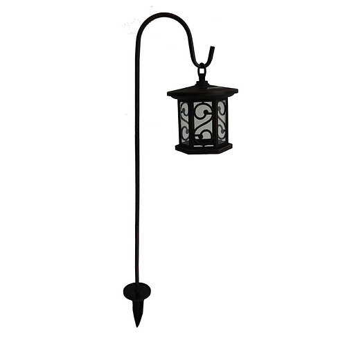 HB Solar Bronze Outdoor Integrated LED Shepherds Hook Landscape Path Light with