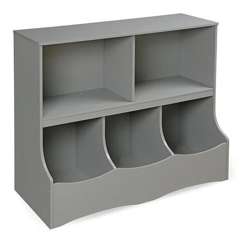 Badger Basket Multi-Bin 37 in. x 32 in. Gray 5-Cube Organizer