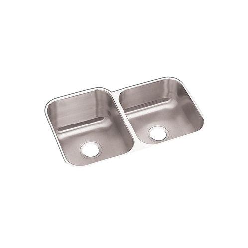 Elkay Undermount Stainless Steel 32 in. Double Bowl Kitchen Sink
