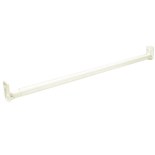 ClosetMaid Selectives 30 in. - 48 in. White Adjustable Teardrop Closet Rod