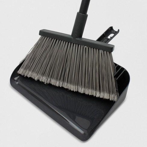 Design Floor Broom with Clip-on Dust Pan Set