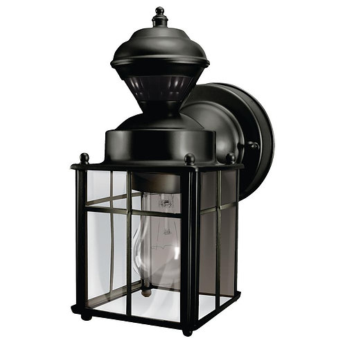 Hampton Bay Bayside Mission 150 Degree Black Motion-Sensing Outdoor Lantern