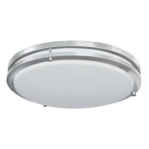 Good Earth Lighting Jordan 17-in Brushed Nickel LED Flush Mount Light ENERGY STA