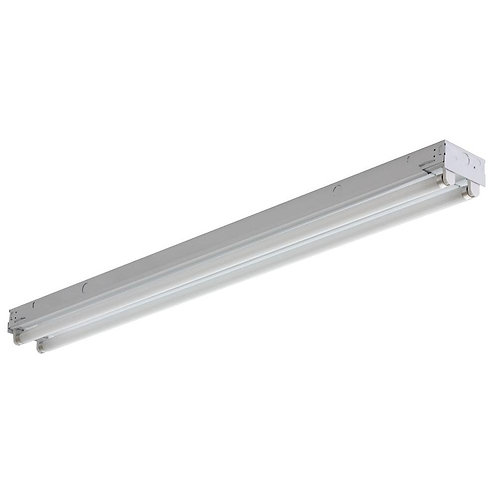C 2 40 120 MBE 2INKO 2-Light Flushmount Steel White Fluorescent Light