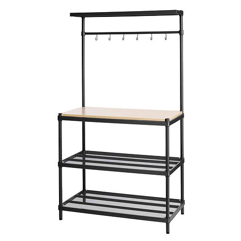 Design Ideas - MeshWorks 4-Shelf Metal Black Freestanding Utility Unit