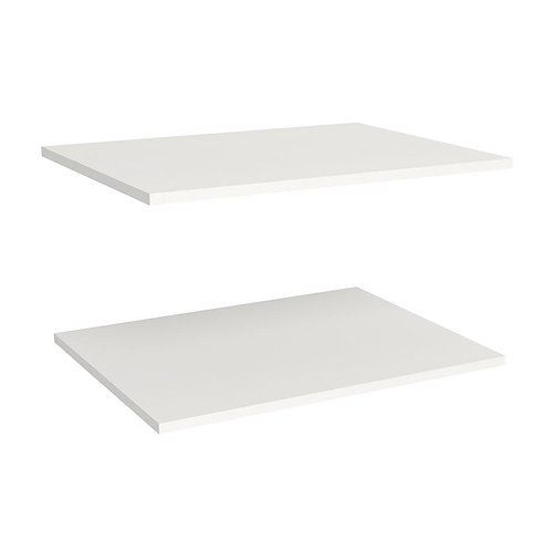 ClosetMaid Impressions White Deluxe Shelves for 25 in. W Impressions Tower (2-Pa
