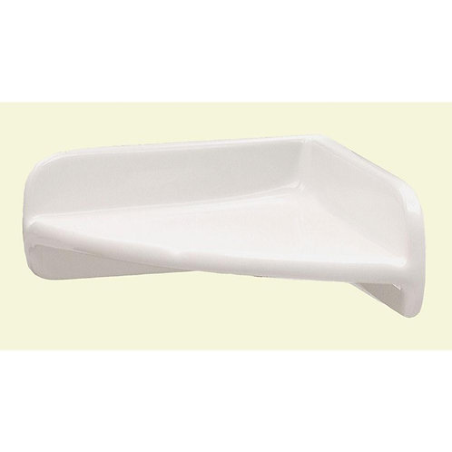 Daltile  Bath Accessories White 8 in. x 8 in. Ceramic Wall Mounted Corner Shelf