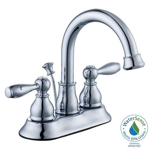 Glacier Bay Mandouri 4 in. Centerset 2-Handle High-Arc Bathroom Faucet in Chrome
